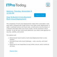 Webinar: How To Build A Crisis-Resilient Multi-Cloud Deployment