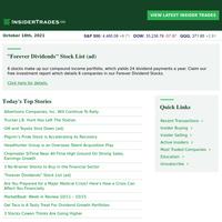 🌎 Insider Trades Newsletter for 10/18/2021