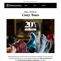 20% Off Select Socks, Just In Time For Fall