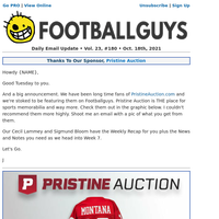 🏆 News And Notes - Plus Welcome Our Friends At Pristine Auction