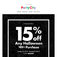 👻 Don't Forget Your Fab-Boo-Lous Savings!