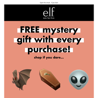 FREE Mystery Gift with every purchase 🎃👻🕷️🧚