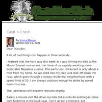Cash > Crash