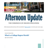Afternoon Update: What's a College Degree Worth?