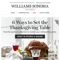Dress up your Thanksgiving table (+ shop Warehouse Sale)