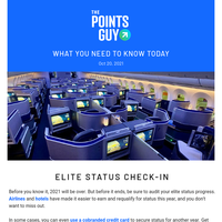 ✈ Check Your Elite Status Progress & More Daily News From TPG ✈