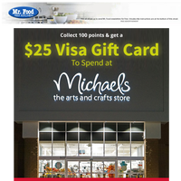 Get a $25 Michael's Gift Card!