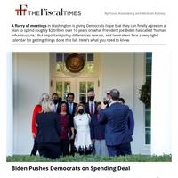 Biden Pushes Democrats on Spending Deal