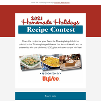 Homemade Holidays Recipe Contest  going on now!