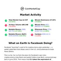 Facebook Told to Abandon Crypto Wallet ❌
