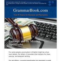 Lawsuits and the Missing Apostrophe