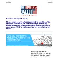 Quinnipiac Poll: 78 Percent in GOP Want Trump to Run Again