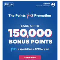 {NAME}, up to 150K Points + a special offer is waiting.