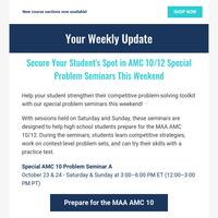 Attend this weekend's contest seminars and other upcoming events