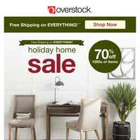 Free Shipping!* Save BIG on Cozy Furniture & Decor! Discover the Deals at the Holiday Home Sale!