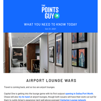 ✈ It's an Airport Lounge Bonanza, International Route Changes & More Daily News From TPG ✈