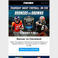 Broncos vs Browns tonight