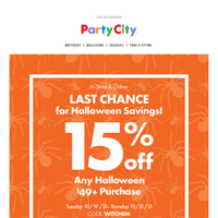 Let's get spooky... Start planning your next party with 15% off
