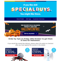 Our Halloween Specialbuys will fright and delight!