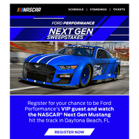 Register to see the NASCAR Next Gen Mustang hit the track!