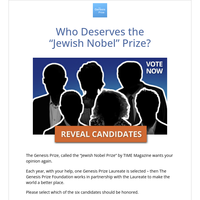Discover the 'Jewish Nobel' Prize Candidates (Sponsored)
