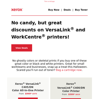 Spookily low prices on quality printers – grab them while you can!