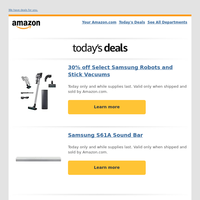 30% off Select Samsung Robots and Stick Vacuums