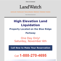 High Elevation Land Liquidation 3 acres $19,900
