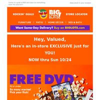 Free DVDs, 💿 plus BIG home theater deals!