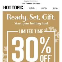 30% off, $15 Tees & BOGO $10 hoodies & sweaters 🌟   Ready, set, GIFT!