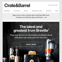 Get your kitchen holiday ready with the best of Breville.
