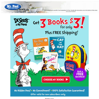 Get 3 Dr. Seuss Books for $3 + a FREE Backpack!