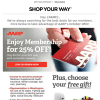 Don't Forget: October Offer from AARP