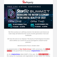 [FREE Virtual Conference] Star Media Group's StarBiz Summit 2021