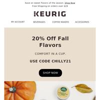 20% off fall favorites