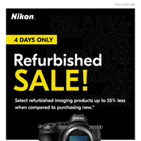 Four Day Refurbished Sale!