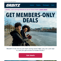 Save more, travel more with Insider Prices