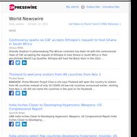 World News (Fri 22 Oct 2021)