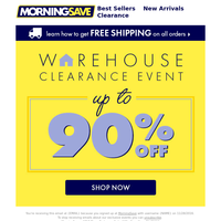 Happening Now: CLEARANCE EVENT!