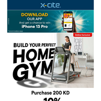 Build Your Perfect Home Gym - Purchase KD 200 Or More & Get 10 % Discount On Cart. Online Only