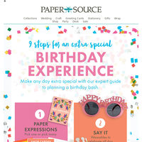 9 Steps for An Extra-Special Birthday!