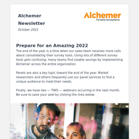 Alchemer News – Oct 2021 🍂: Standardize software tools, find panels, ask a max diff question