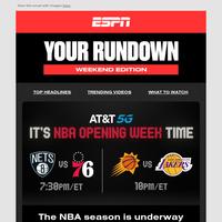 NBA Opening Week continues. Plus the return of ElClásico!