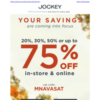 Up to 75% OFF! IT'S BEHIND YOU!