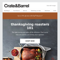 THANKSGIVING 101 | Your guide to roasters