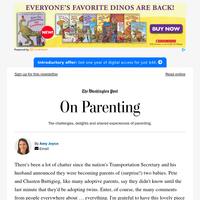 On Parenting: As the Buttigieges are learning, adoption is full of suprises