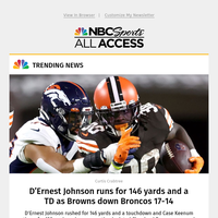 Browns down Broncos: D'Ernest Johnson runs for 146 yards and a TD