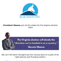 Why Obama is in Virginia