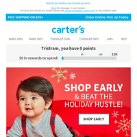 Hurry oh hurry, shop early!