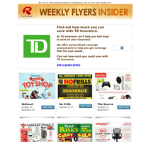Walmart's 2021 Holiday Toy Book + Weekly Flyer, The Source's Tech Gift Shop, Big Chair + Desk Event at Staples, Spooky Deals from Canada Computers and GameStop + Grocery Flyers from Food Basics, No Frills, Real Canadian Superstore & More